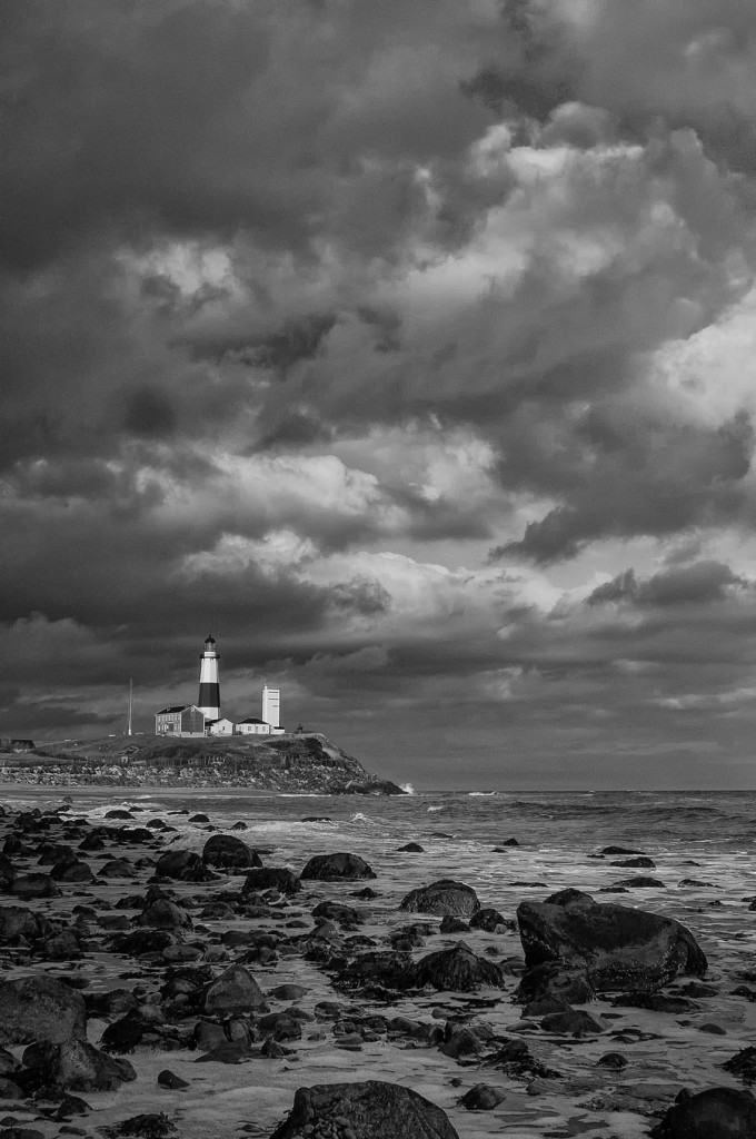 Montauk Light and Clouds