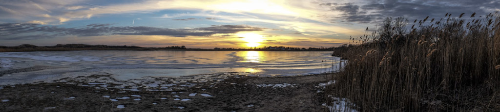 Sunset on the Salt Pond at Flying Point Beach
